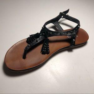Mia Shoes - MIA goth boho punk studded sandals w/tassels